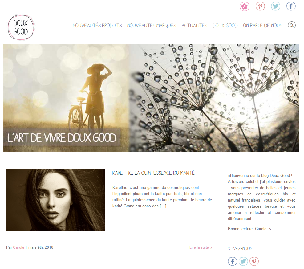 blog doux good