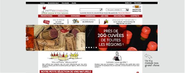 Mise en ligne du nouveau site pour Petites Caves