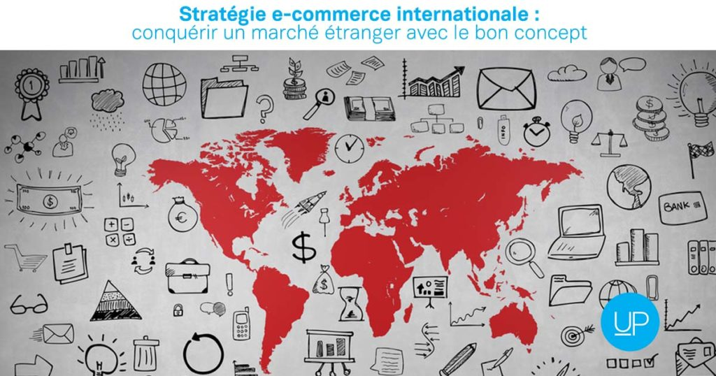Strategie e commerce internationale concept