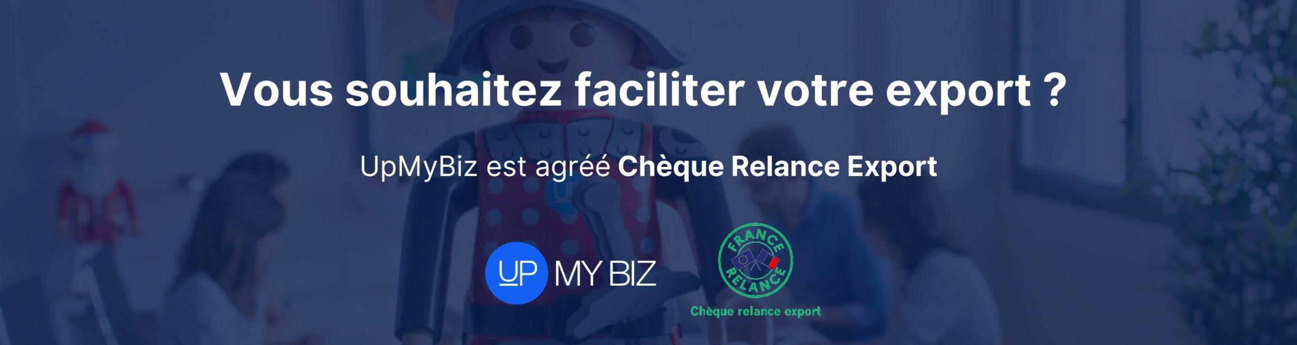 cheque relance export upmybiz